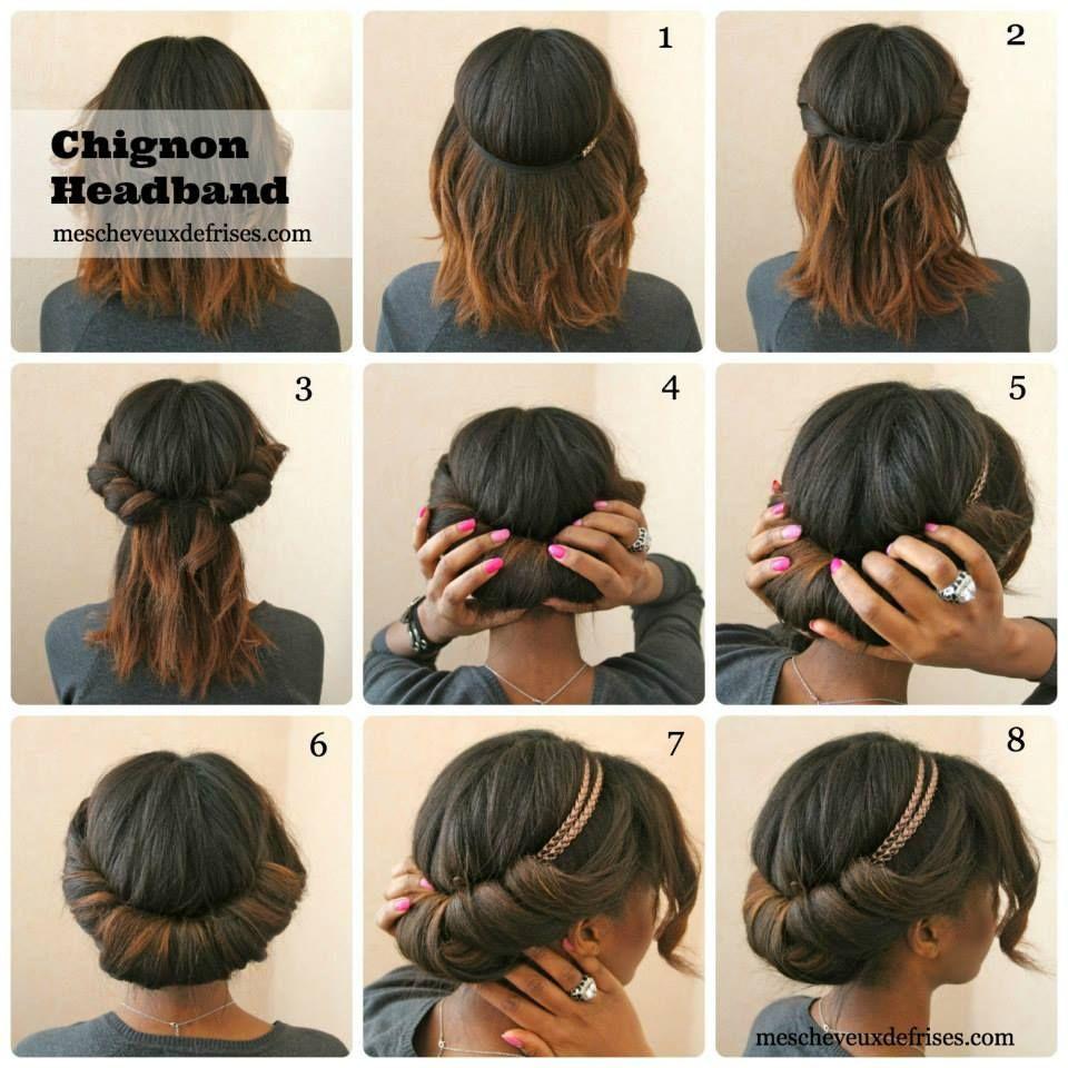 Le chignon headband by mescheveuxdéfrisés coiffures pinterest
