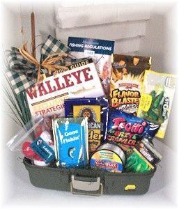 Gone fishin 39 fishing gift basket holidays easter and for Fishing gift basket