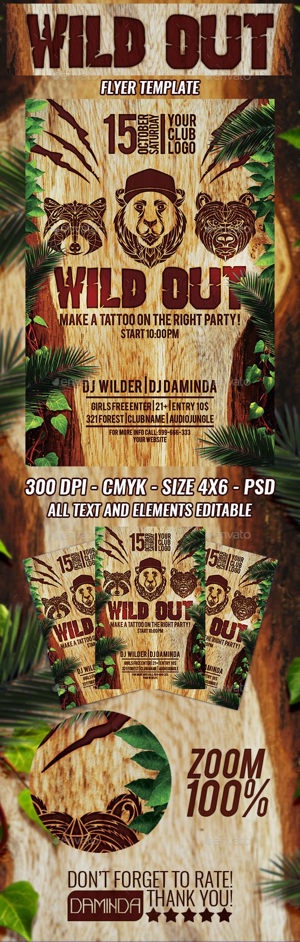 wild out party flyer template pinterest party flyer flyer