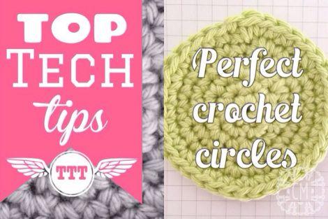 Perfect crochet circles tutorial Virkkaa täydellinen ympyrä kiinteillä silmukoilla
