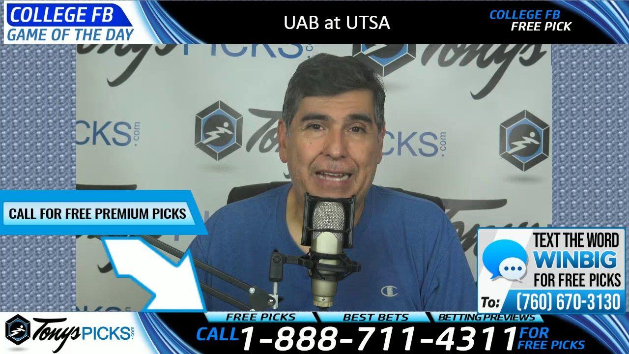 UAB vs. UTSA Free NCAA Football Picks and Predictions 10