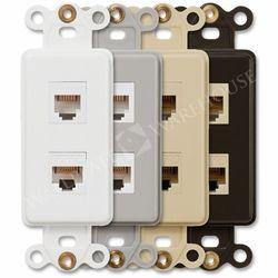 Single Data Jack Phone Jack Rocker Device Plates On Wall Switch Plates Phone Jack