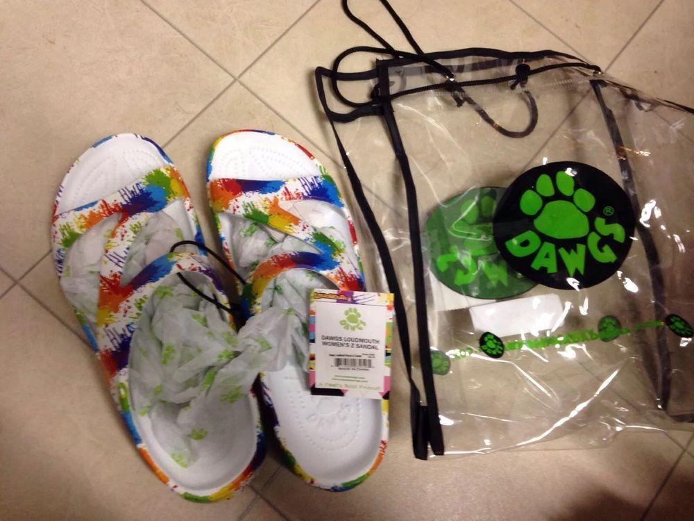 bc0f4228f1b6 Women s Dawgs Z Sandals Loudmouth Drop Cloth Paint Splatter Slide Size 9  New  Dawgs  Slides  Casual