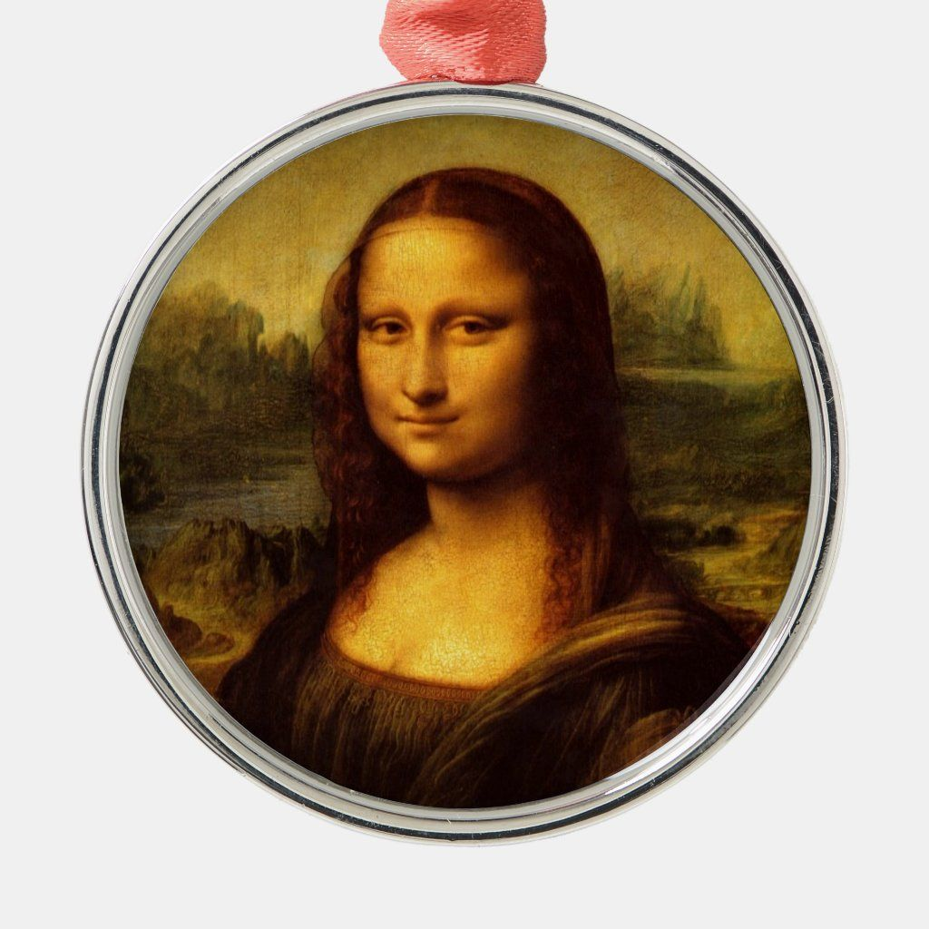 Leonardo Da Vinci Mona Lisa Fine Art Painting Metal Ornament Zazzle Com Mona Lisa Fine Art Painting Art Parody