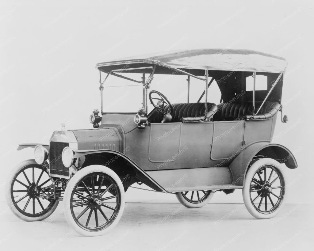 Ford model t 1915 touring car 8 x10 old photo