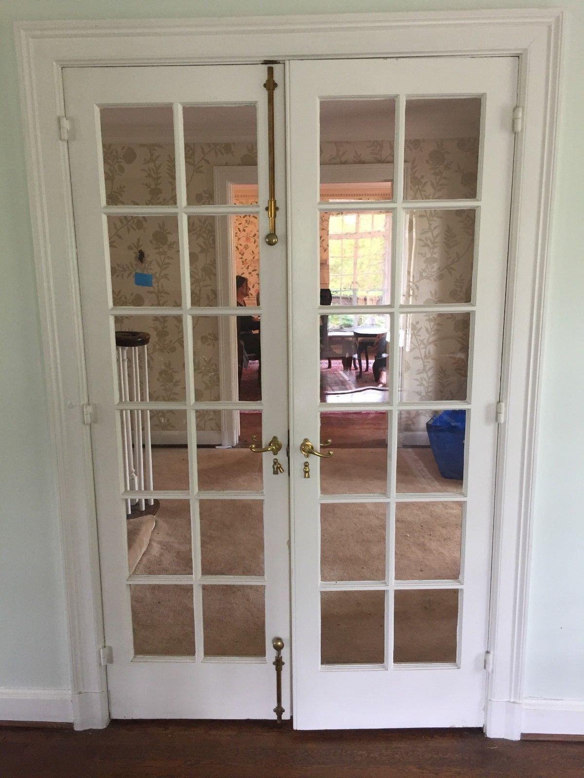 1928 Brass French Door Hardware Russwin Door Slide Locks Handles Cremone Bolts Ebay French Doors Interior Cremone Bolt French Doors