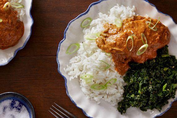 West African Peanut Chicken with Sautéed Kale  Rice  J McMullen  West African Peanut Chicken with Sautéed Kale  Rice West African Peanut Chicken with Saut&e...