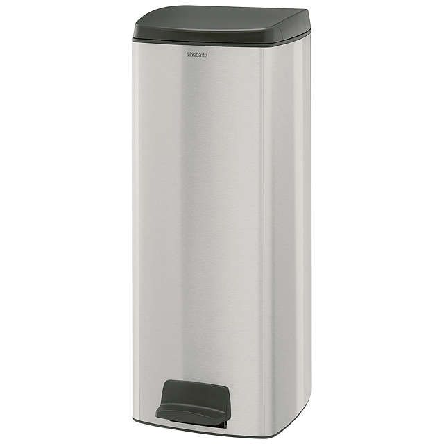 BuyBrabantia MotionControl Rectangular Pedal Bin, Fingerprint Proof Matt Steel, 25L Online at johnlewis.com
