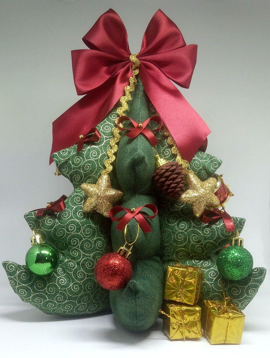 Mini Arvore De Natal De Tecido Com Imagens Arvore De Natal