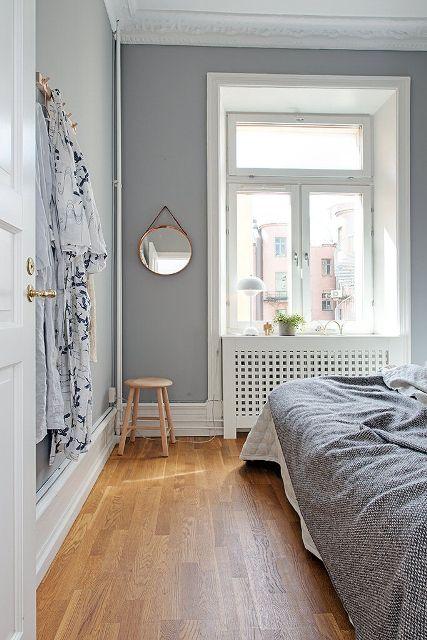 Modern Wandfarbe Schlafzimmer Graue Wand Schlafzimmer
