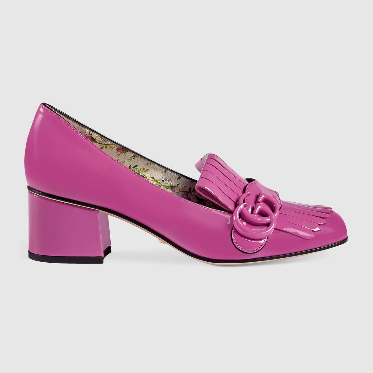 pink gucci marmont shoes