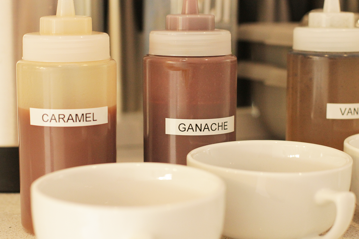 Interior - Lilac Patisserie Caramel ganache, Patisserie, Tableware