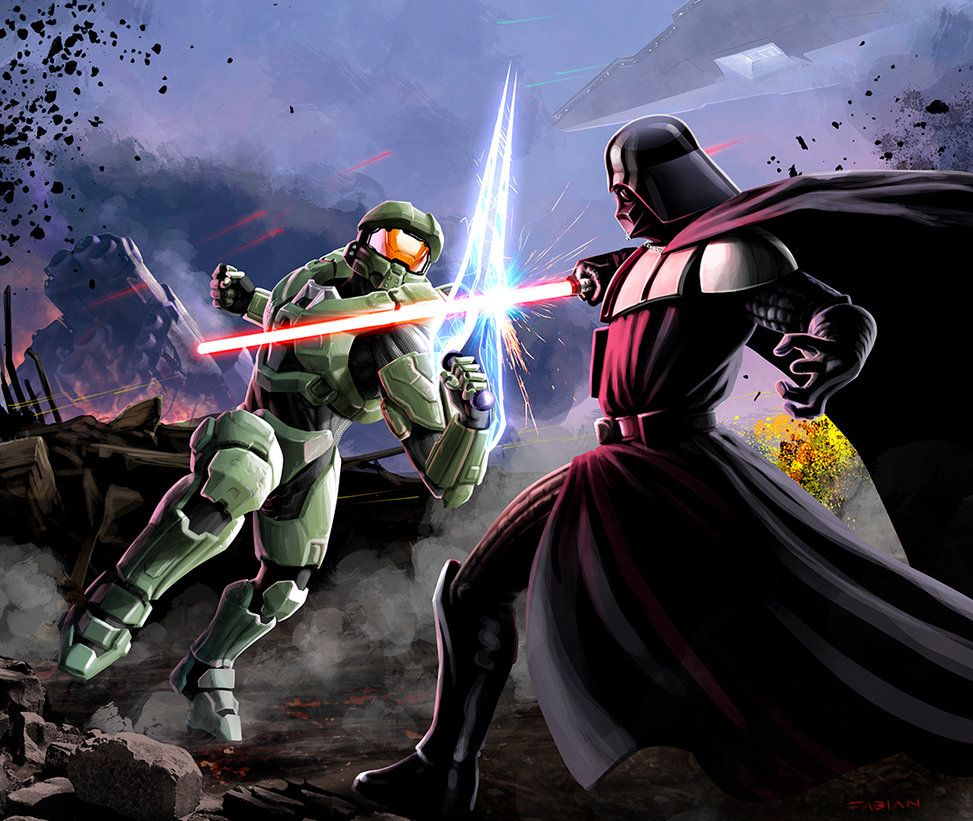 Epic Battle By Designed-One Darth Vader Vs Master Chief