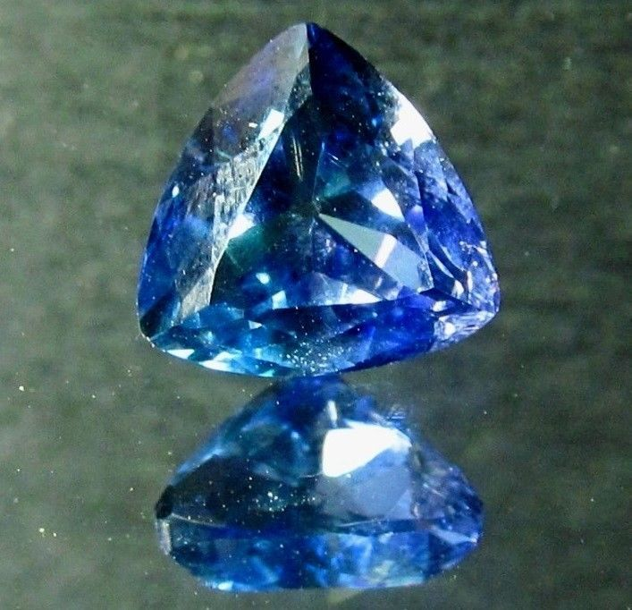 3.89 ct Large Blue Purple Tanzanite 9.5mm Trillion Cut Gemstone AAA Tanzania Gem #JewelsRoughGems