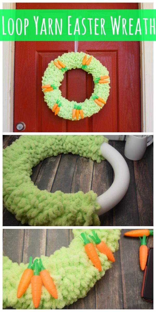Photo of Loop Yarn Easter Wreath
