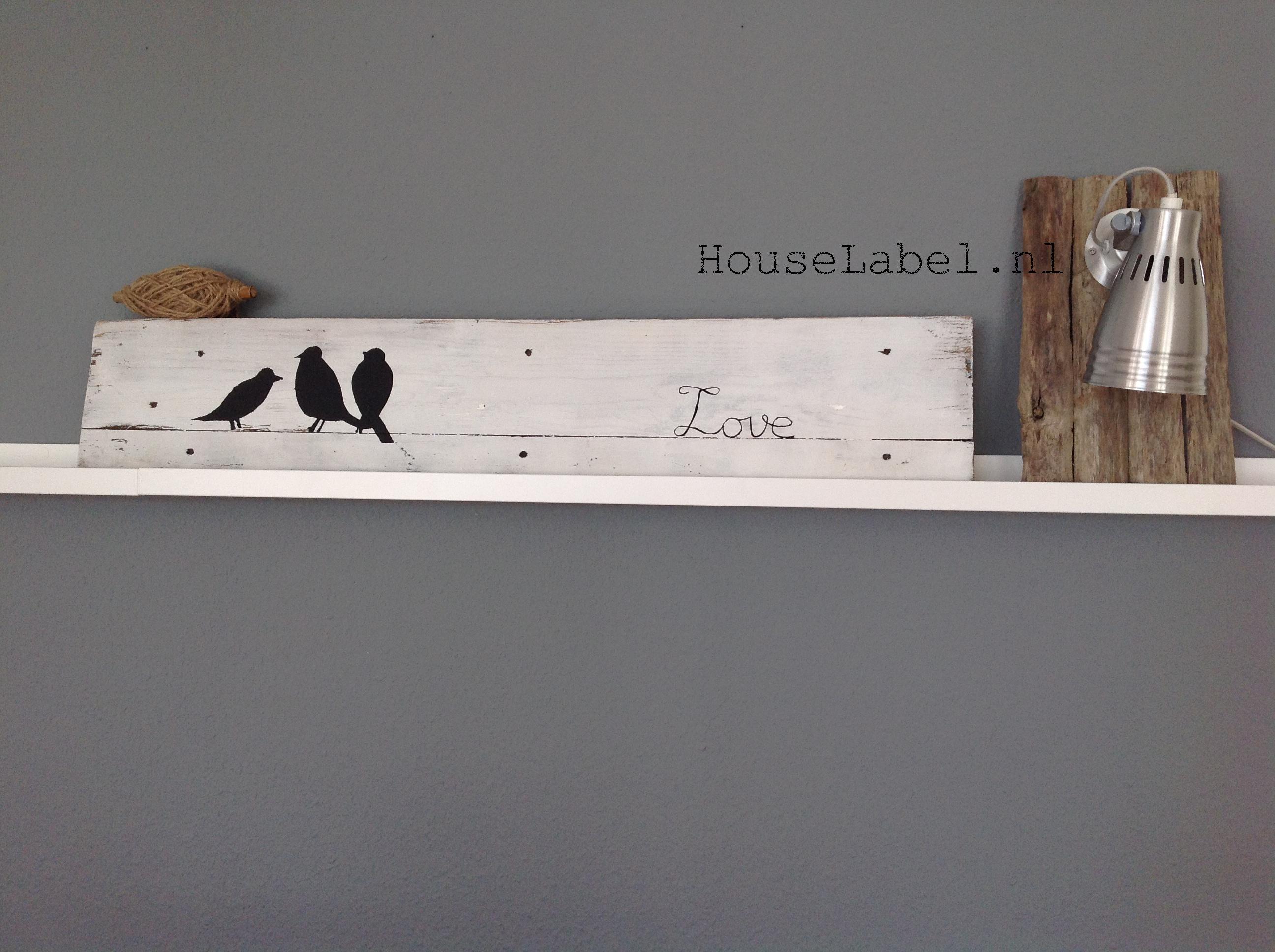 Pallet bord - Birdie  Made by HouseLabel.nl