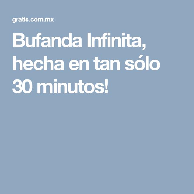 Bufanda Infinita, hecha en tan sólo 30 minutos!   mantas xxl ...
