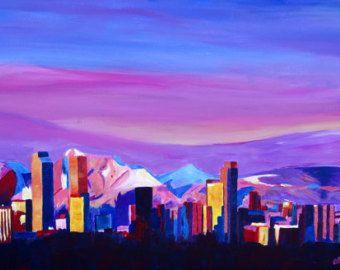 Denver colorado skyline with luminous rocky mountains tattoos denver colorado skyline with luminous rocky mountains malvernweather Gallery