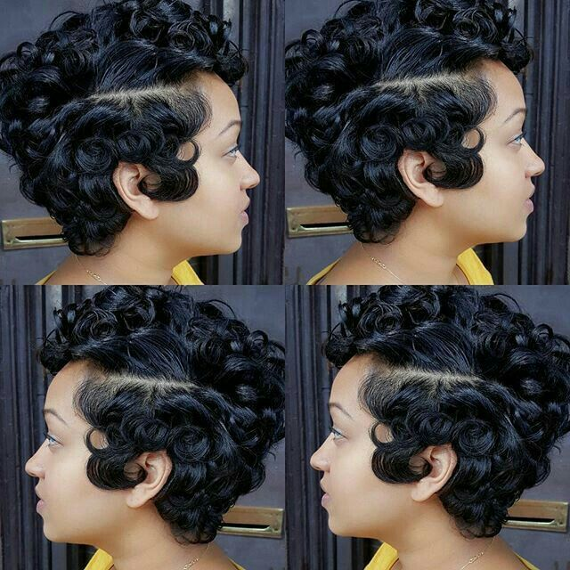 Pin By Veronica Gales On Pin Curls Haute Hair How To Curl Short Hair Hair Affair