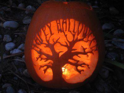 tree of life jack-o-lantern