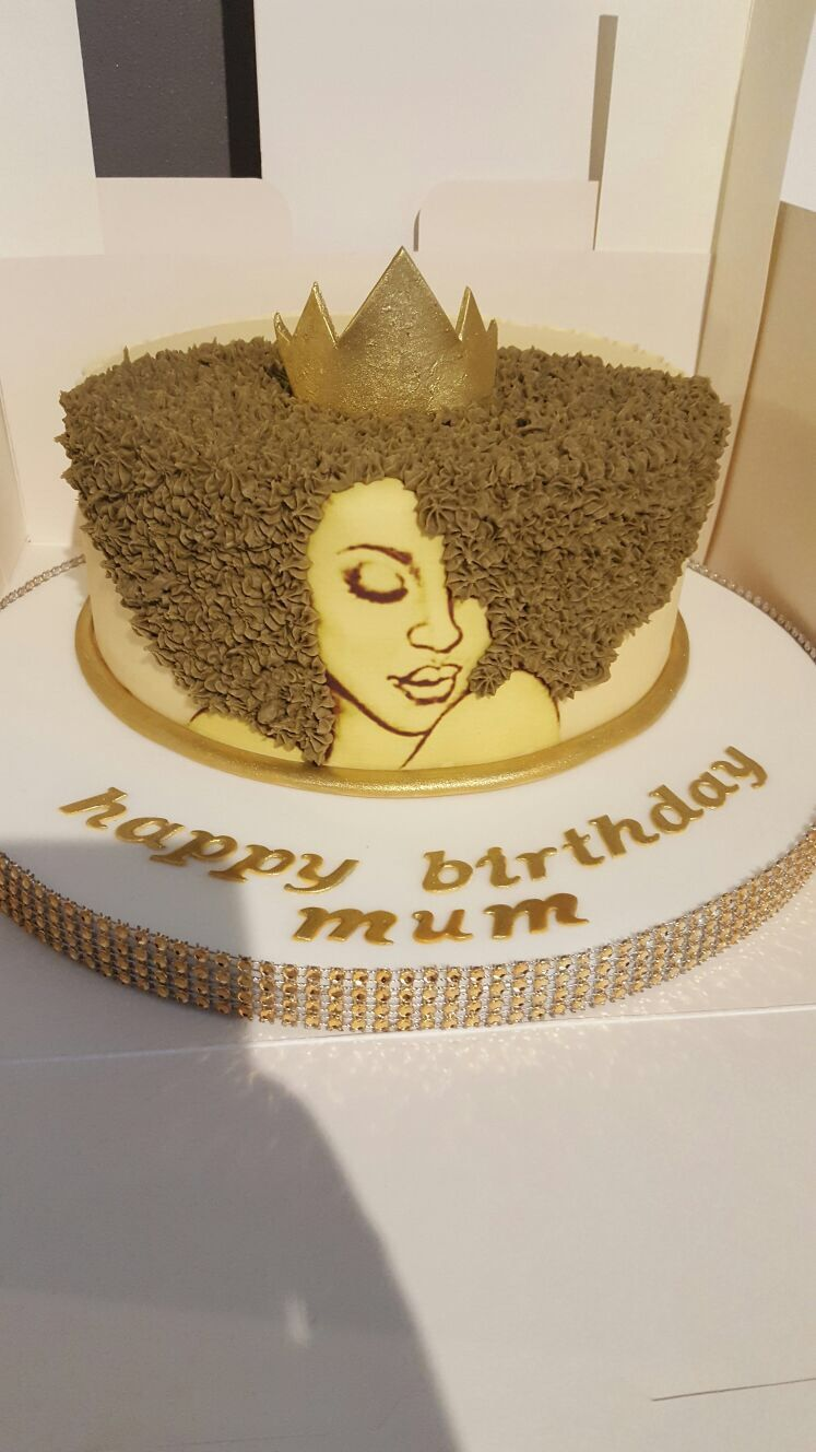 My Queens Birthday Cake Empress Queening Shesroyal Afro