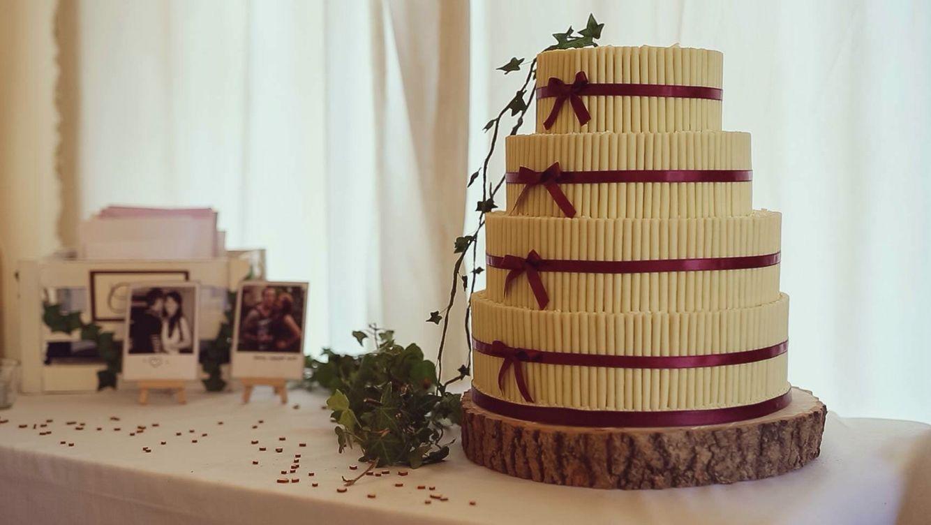 White chocolate scroll cake