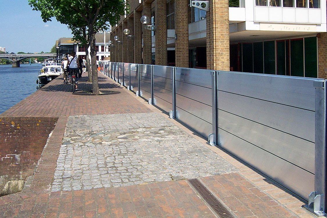 Flood Barriers Designed And Built By Engineers In 2020 Flood Barrier Flood Protection Flood