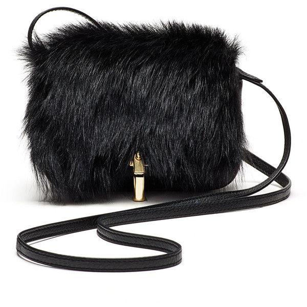 Elizabeth and James Cynnie Micro Shearling Fur Crossbody Bag ... b654bca98dd7a