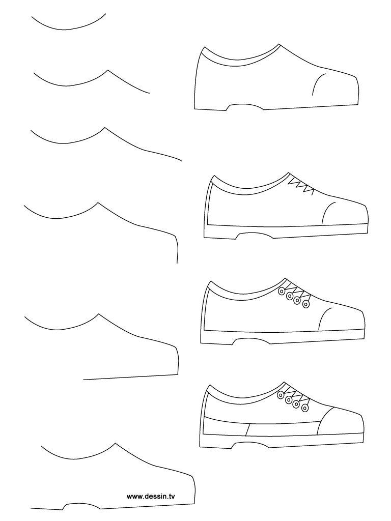 Hvernig A Ad Teikna Allskonar Fyrir Bornin Shoes Drawing Easy Drawings Drawing Tutorial Easy