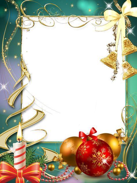 Marcos para fotos gratis orientación vertical, motivos navideños en