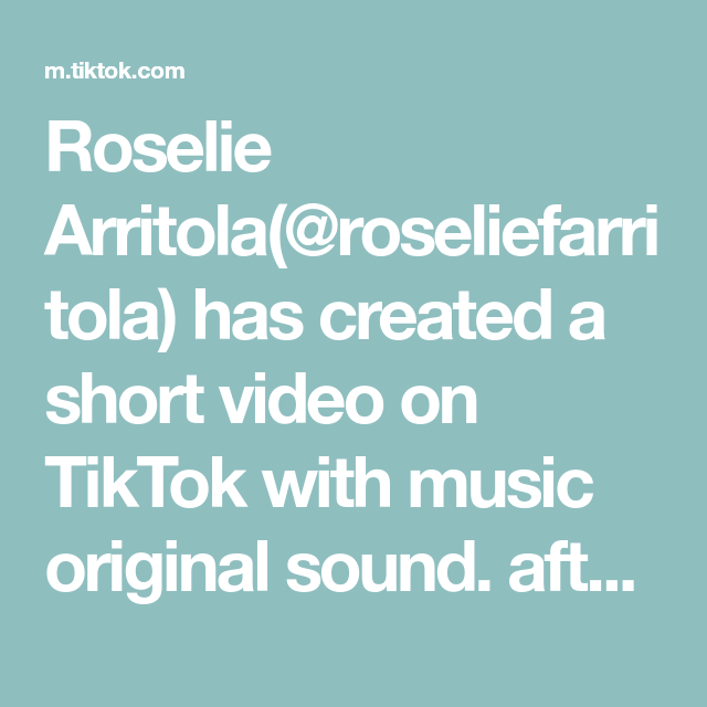 Roselie Arritola Roseliefarritola Has Created A Short Video On Tiktok With Music Original Sound After I Finish Uploading The Originals Music Music Memories