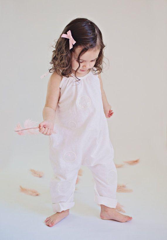 00cb6eadc630 Girls White Linen Romper