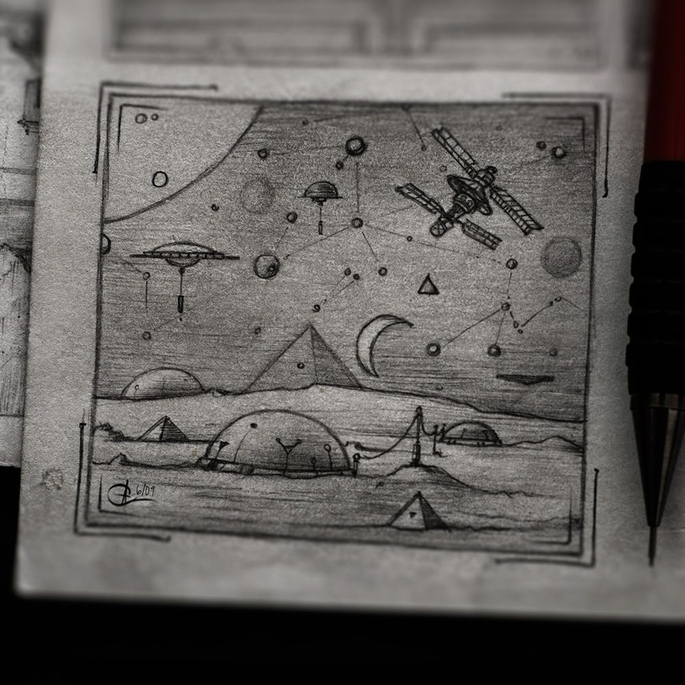 moon base drawing - photo #6