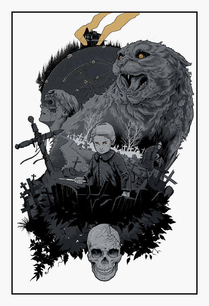 Scott Buoncristiano Sometimes Dead Is Better Print Pet Sematary Horror Movie Art Pet Cemetary