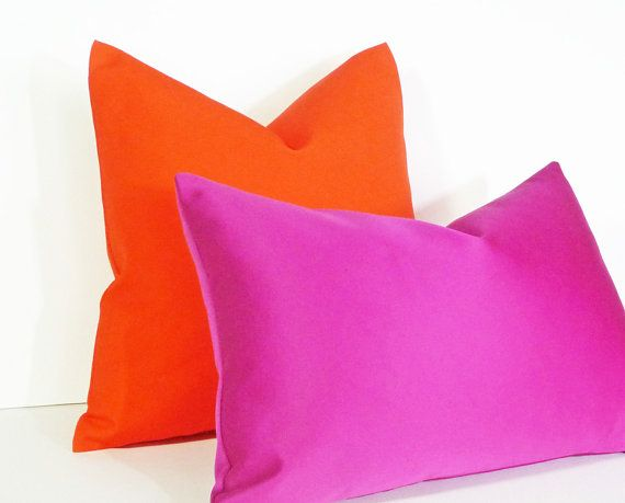 Vibrant Orange Pillow Bright Orange Pillow Covers Bold Orange