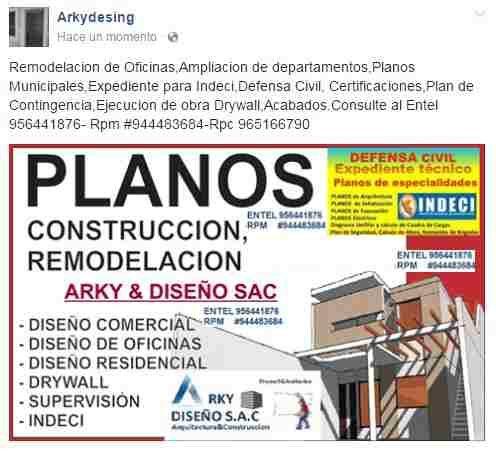 Defensa Civil Indeci Planos Mun Remodelaciones Drywall Anuncios De Trabajo Defensa Planos