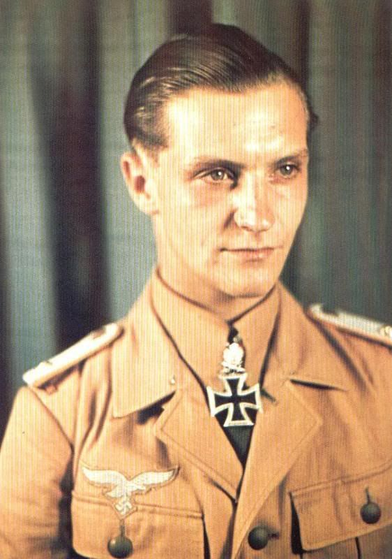 ✠Hans-Joachim Marseille 1919 – 1942.He is noted for his aerial battles during…