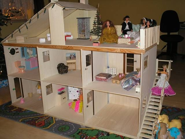 Дом для кукол своими руками чертежи фото 429