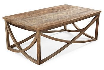 Elegant Yet Rustic, This Table Features A Rectangular Form With Beautifully  Curved Supports In The Base. It Is Crafted Of Reclaimed Elm In A Driftwood  ...