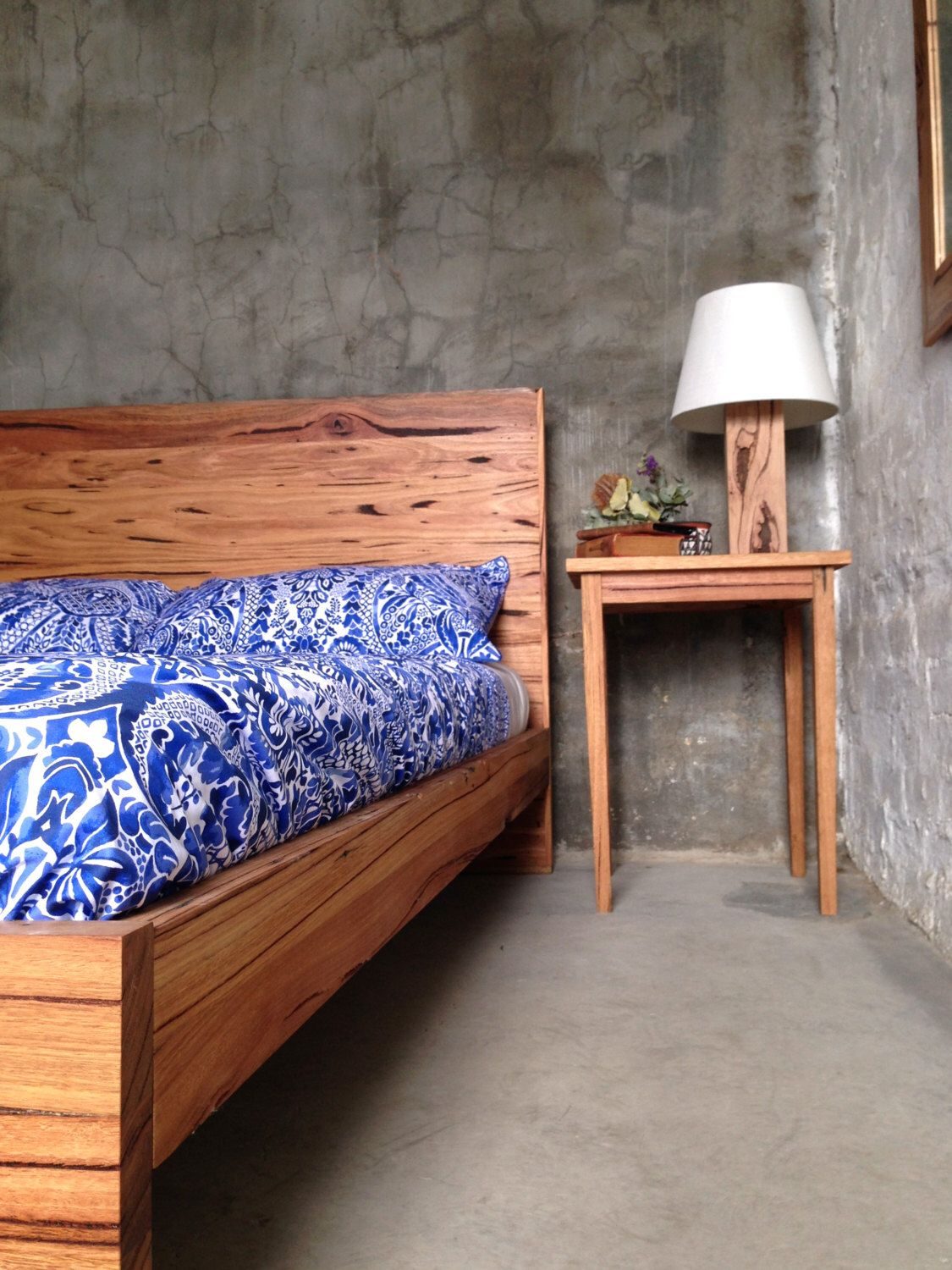 Rustic Recycled Timber Panel Bed by RetrogradeMelbourne on