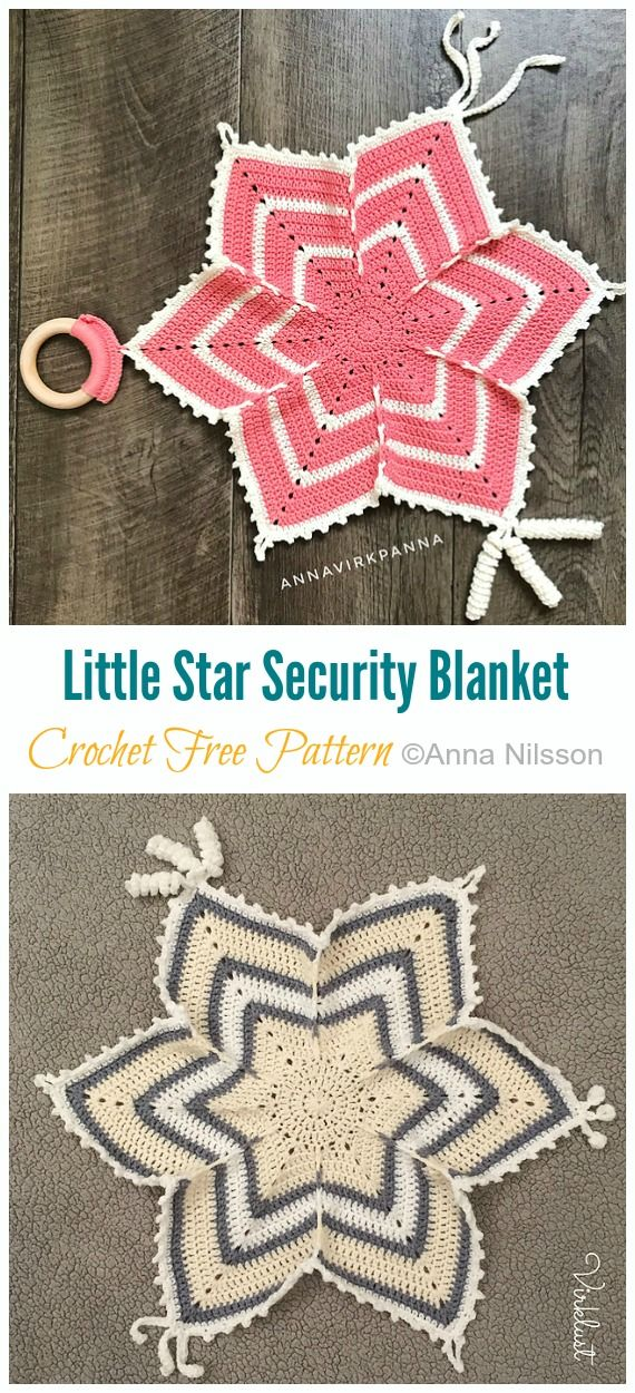 Little Star Security Blanket Crochet Free Pattern - Crochet & Knitting