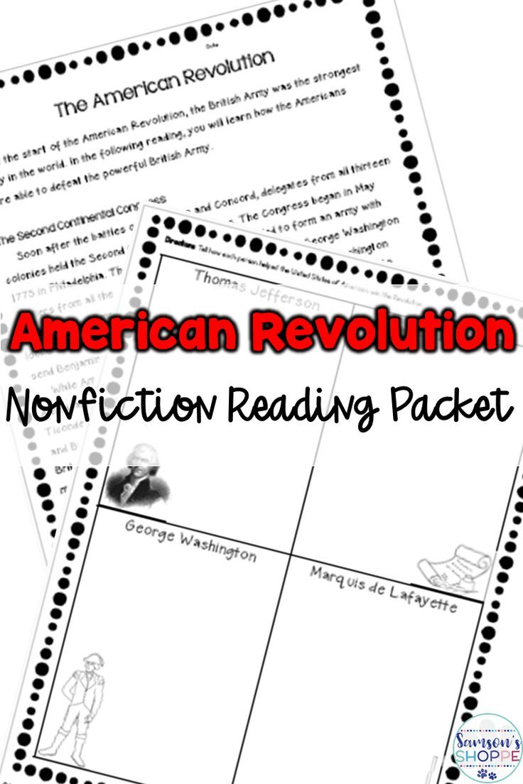 american revolution nonfiction packet and activity american rh pinterest com The American Revolution Map Activity American Revolution Activity Matching