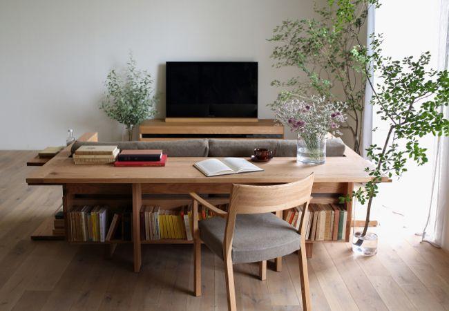 カラメッラ カウンターソファ オークフレーム Caramella Counter Sofa 6810 内装 インテリア 家具 部屋 レイアウト