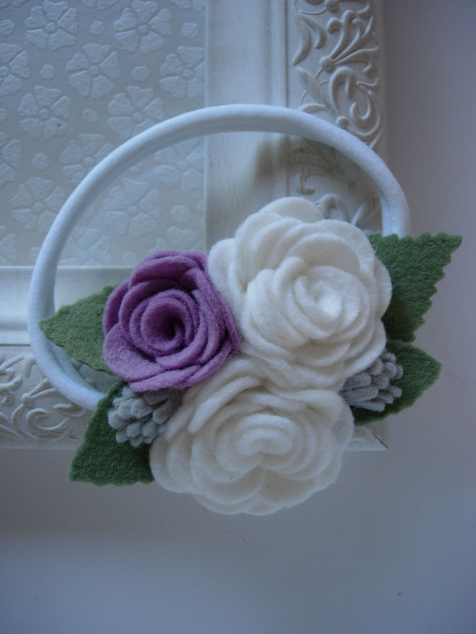 Flower Girl Headband Baby Girl Headband Easter Headband Newborn Headband Lavender Headband Lavender Baby Headband Lavender Bows