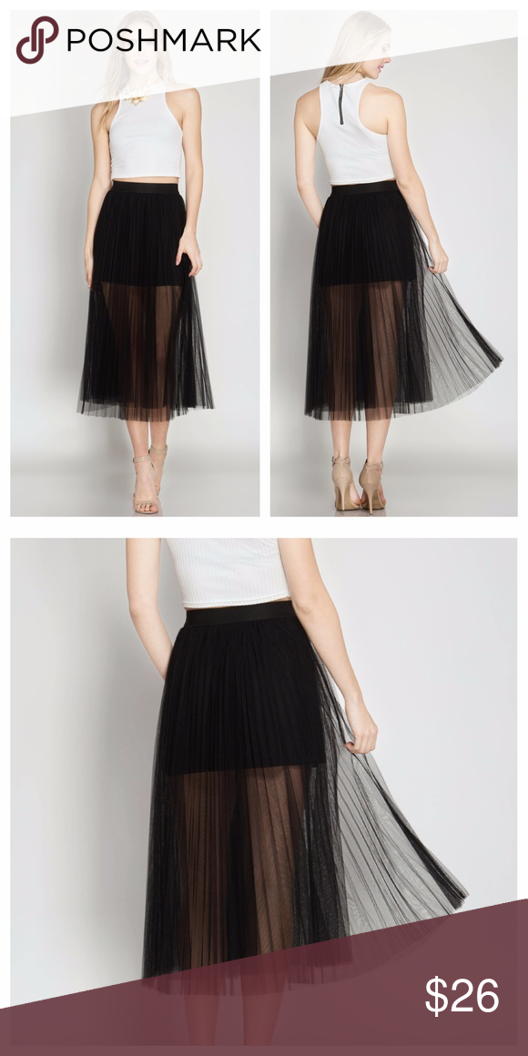 f5bc4b8c7f Selling this Black Pleated Tulle Skirt on Poshmark! My username is:  texaslariat. #shopmycloset #poshmark #fashion #shopping #style #forsale  #EVIEcarche ...