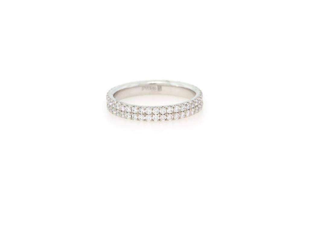 e31df3c34e8b06 Diamond Pave Double Row Ring | Wedding Bands | Rings, Diamond ...
