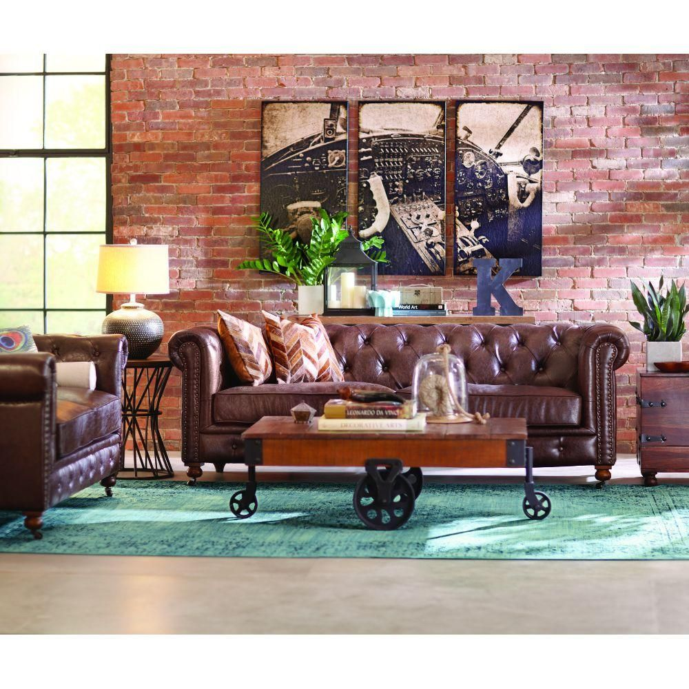 Leather Furniture Traveler Collection: Home Decorators Collection Gordon Black Leather Loveseat