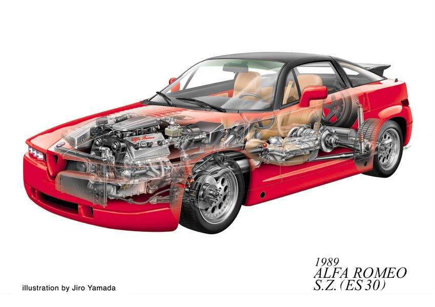 Sketchbook historic cars : Le italiane del novecento ai raggi X di Jiro Yamada - Abarth - Alfa Romeo - Lancia - Ferrari