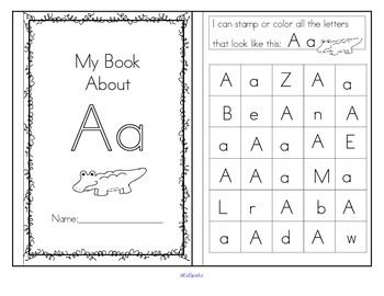 alphabet booklets 6 hands on recognition activities for each letter preschool prek and. Black Bedroom Furniture Sets. Home Design Ideas