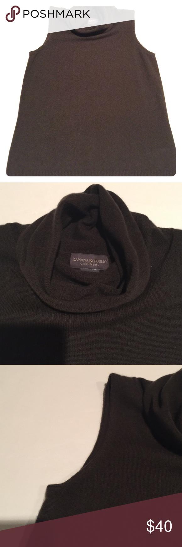 BANANA REPUBLIC: Cashmere Sweater | Cowl neck, Dark brown and ...